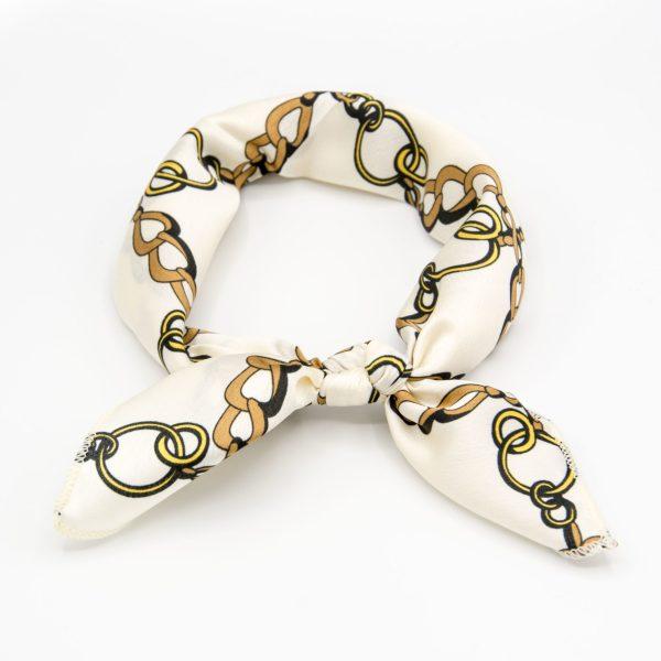 bandana femme blanc à chaînes