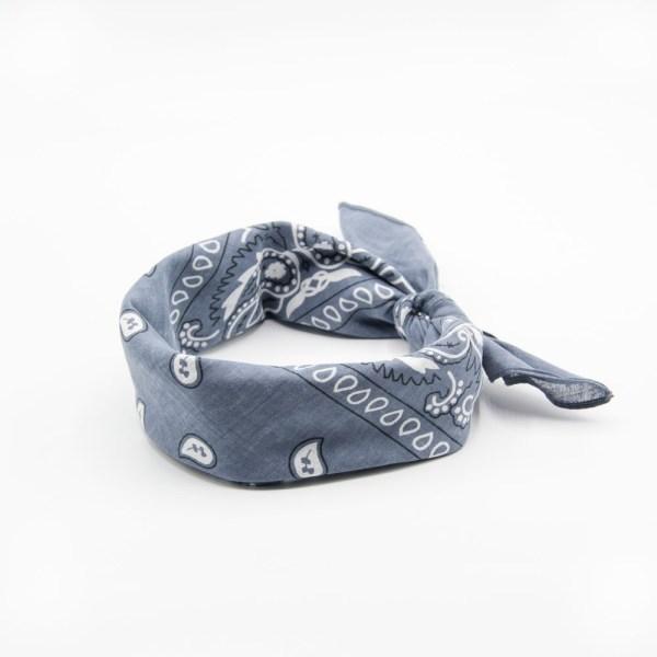 bandana gris paisley