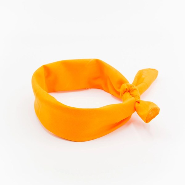 bandana homme ou femme orange uni