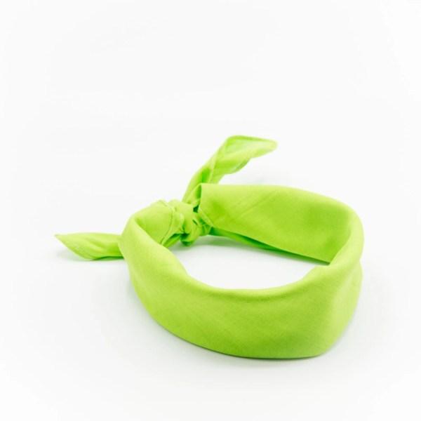 Bandana homme ou femme vert uni