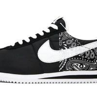 Black Bandana Custom Nike Cortez Shoes NBW Half