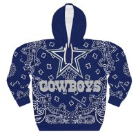 Dallas Cowboys Blue Bandana Custom Hoodie Pullover Blue