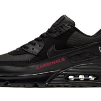 Arizona Cardinals Red Custom Nike Air Max Shoes Black
