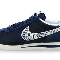 Dallas Cowboys Mini Navy Blue Bandana Custom Nike Cortez Shoes NNW
