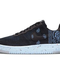 Carolina Blue Bandana Custom Nike Air Force 1 Shoes Chambray Sides