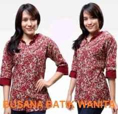 Fashion Baju Kerja Wanita Modern Dengan Busana Batik