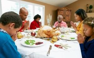 family praying - small