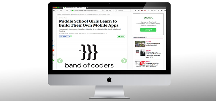 Middle School Girls Learn to Build Their Own Mobile Apps