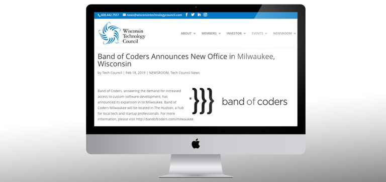 Press Release - Band of Coders Announces New Office in Milwaukee, Wisconsin