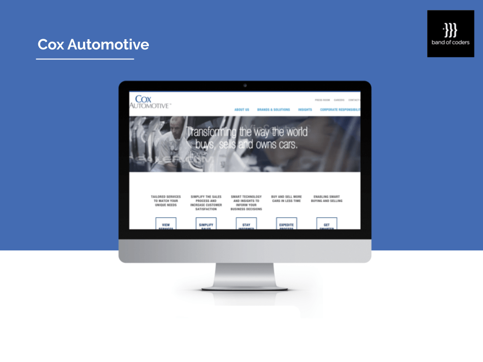 Cox Automotive Portfolio - Band of Coders