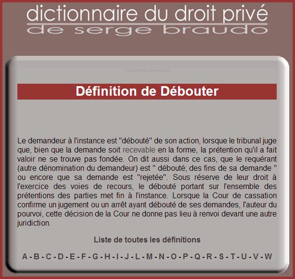 def-deboute