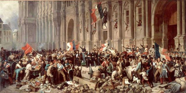 La République à l'Hotel de Ville 24 férier 1848