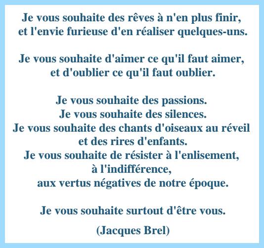 Je Vous Souhaite Par Jacques Brel Wwwbandol Blogcom
