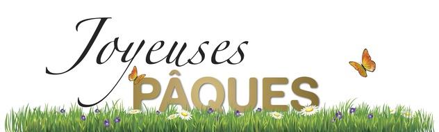 JOYEUSES PÂQUES PELOUSE