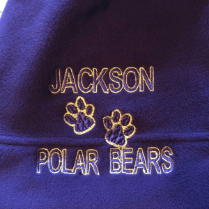 paw prints embroidery