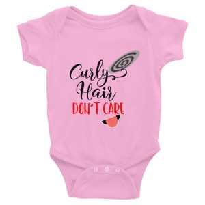 Curly Hair Don't Care Infant Bodysuit