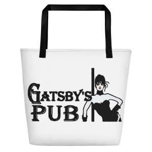 Gatsby's Pub Logo Beach Bag