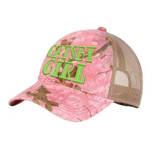 Realtree Camo Pink/tan with green logo