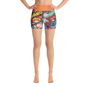 Thought Bubbles Yoga Shorts