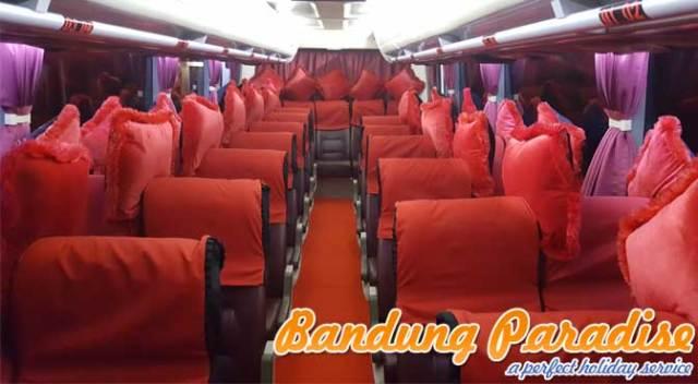 Interior Sewa Bus Pariwisata Medium 31 Dan 33 Seat Bandung