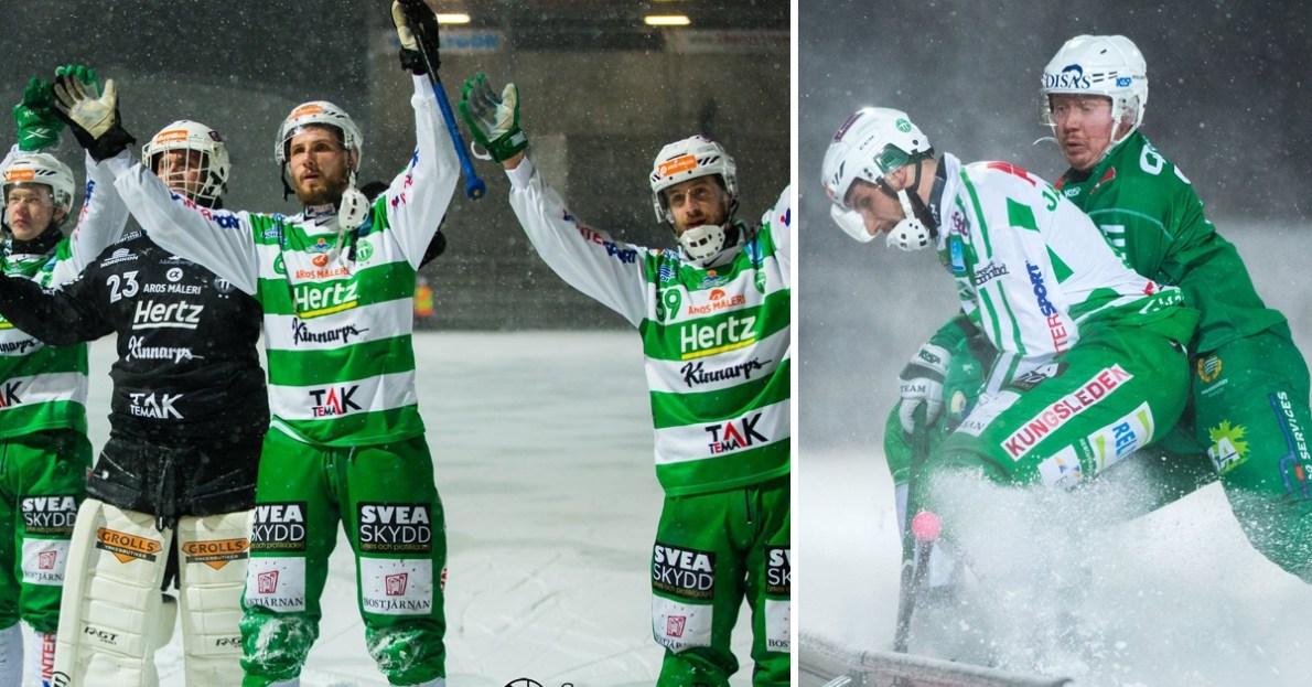 VSK, Hammarby, andra semifinalen, andra semifinalmötet, semifinalen, snylta, snö, VSK vann i snöyran mot Hammarby