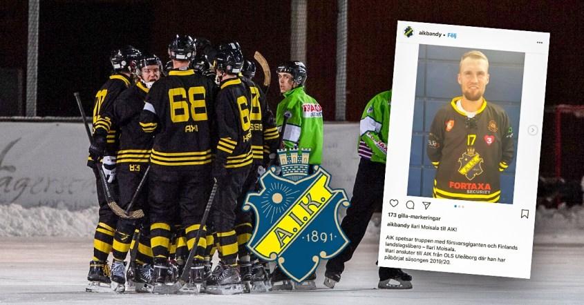 AIK, bandy, Ilari Moisala, nyförvärv, elitserienykomlingen