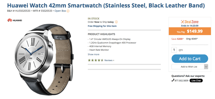 deal Huawei Watch
