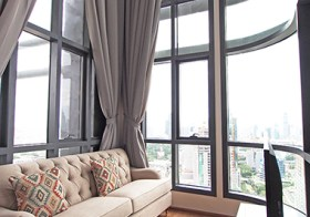 Q Chidlom Phetchaburi – Bangkok condo for rent | 850 m. to Chidlom BTS | luxurious duplex with stunning panoramic view