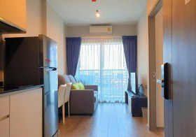 Whizdom Avenue Ratchada-Ladprao | condo for rent close to Lat Phrao MRT | north facing | fully furnished with washer