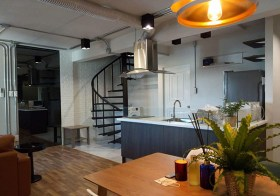 Thonglor Tower – Bangkok condo for rent | 1.6 km. to Thonglor BTS |  stylish loft, fully furnished, 2 double beds