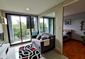 The President Sukhumvit 81 condo | close to On Nut BTS & Century Movie Plaza | fitted kitchen + washer | bright open view