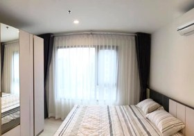 Life Asoke condo | 3 mins walk to Phetchaburi MRT & Makkasan airport link | kitchen with hot plate, washing machine