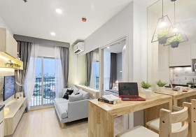 Noble Revolve Ratchada condo | 2-10 mins walk to Thailand Cultural Centre – Rama 9 MRT | east facing + open city view