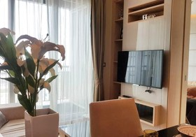 The Address Asoke condo | 150-550 m. to Phetchaburi MRT & airport link | bathtub + washer | 1.7 km. to Asoke BTS & Terminal 21