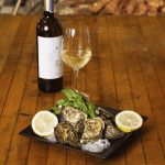 Oysters with a glass of white wine