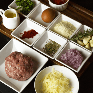 Ingredients for Classic Beef Meatballs