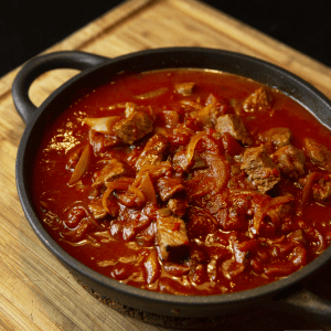 Homemade Goulash in a plate