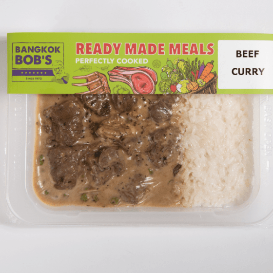 Beef Curry Packaging Ready Meal