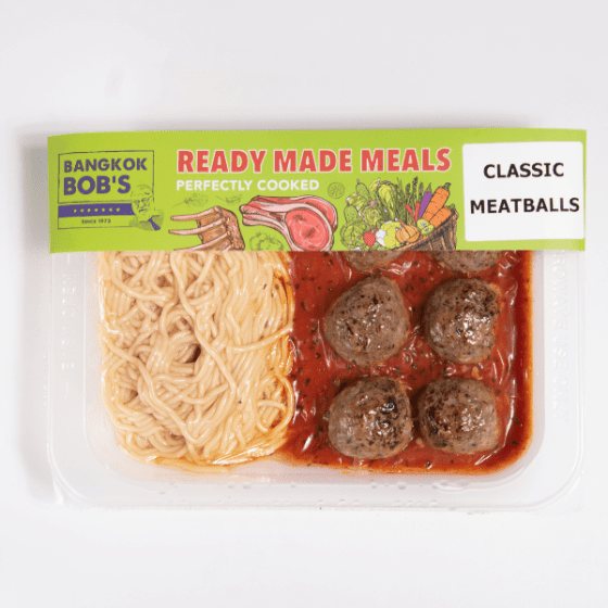 Classic Beef Meatballs Packaging Ready Meal
