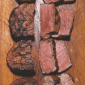 Beef grilled in different cook levels