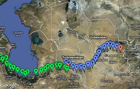 running-the-silk-road-route-map