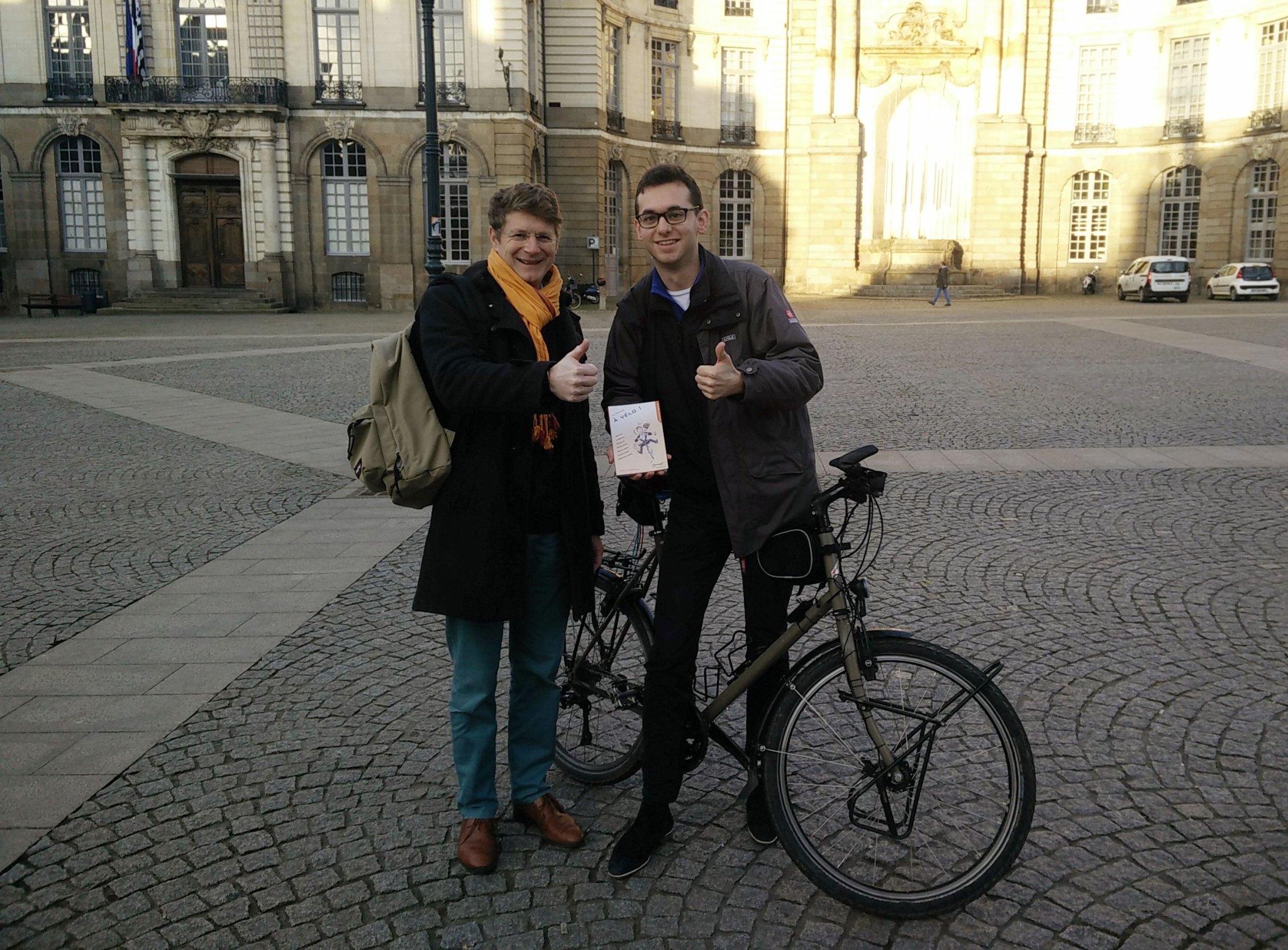 Loïc Tertrais, cycliste passionné et auteur du petit guide «A vélo !» soutient Bangkok Paris By Bike
