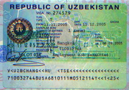 Obtenir le visa Ouzbek à Bishkek