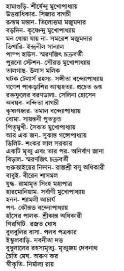Anandabazar Rabibasariya Chhotogalpo Sankalan contents 1