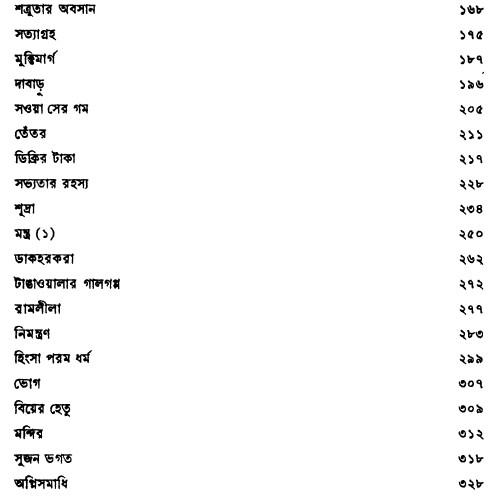 Premchand Galpo Sangraha contents 2