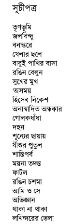Shrestha Galpo by Birendra Dutta contents