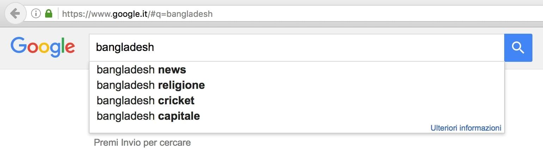 Bangladesh on Google Italy