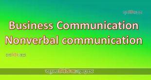 Business Communication Non verbal communication
