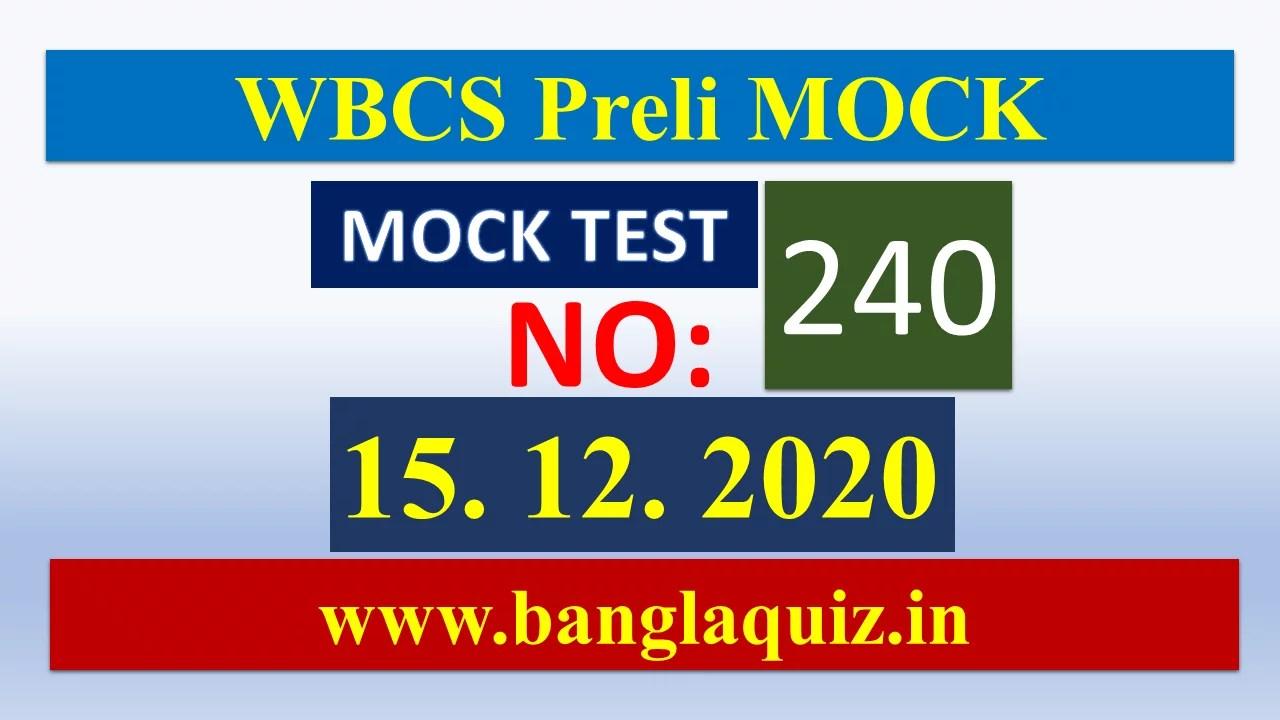 WBCS Preliminary Quick Mock
