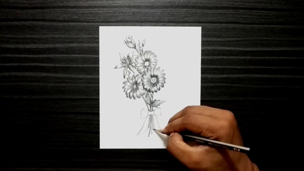 How To Draw Easy Beautiful Flowers Step By Step Drawing Tutorial Bangla Viral